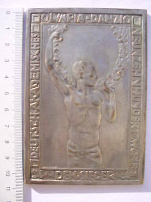 Silber Medaille akademisches Olympia DANZIG 1912 Tennis Olympiade Sport
