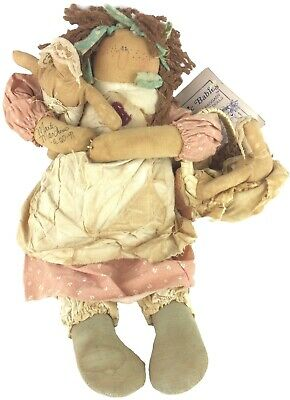 Attic Babies Fertile Mertyl Doll Country Primitive Marty Maschino Signed 1991