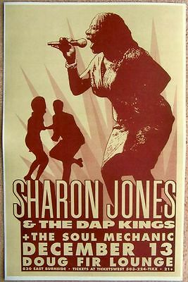 SHARON JONES & DAP KINGS 2005 Gig POSTER Portland Oregon Concert