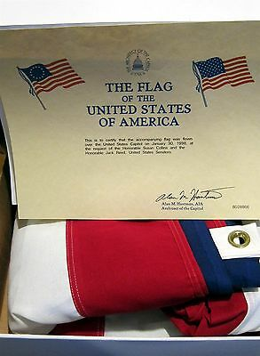 American Flag 5 x 8 Flown Over US Capitol 198 - Best Valley Forge Co. USA Cotton