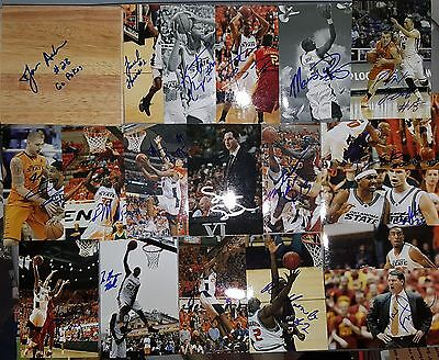 Lot of 19 Oklahoma State Cowboys Autographed Signed Photos & Floor Tile GO POKES