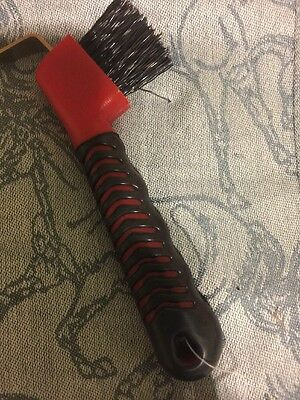 Hoof Pick With Brush And Grippy Handle Red
