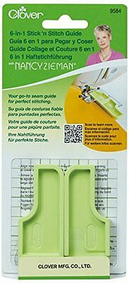 Clover Plastic 6-In-1 Stick'n Stitch Guide By Nancy Zieman