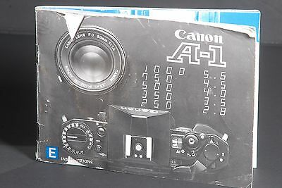 Canon Genuine A-1 Camera Instruction Book / Manual / User Guide