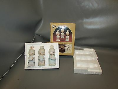 1980 Precious Moments Wee Three Kings Christmas Ornaments E-5634~Triangle Mark