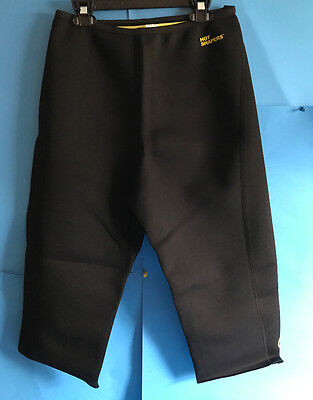 As Seen on TV Hot Shapers Power Knee Pants Black-XXL Neotex Fabric Sweat More