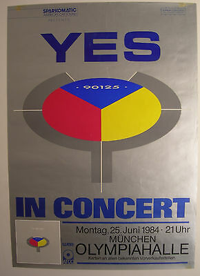 Yes Concert Tour Poster 1984 90125