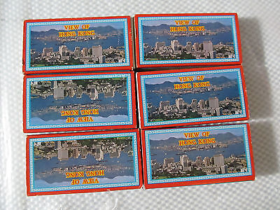 "6 Packs 35mm Slides ""View of Hong Kong"" Night View, Hong Kong, Kowloon, People.."