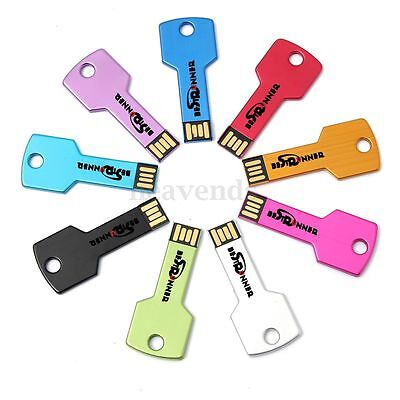 BESTRUNNER Clé USB KEY 1/2/4/8/16/32G GO GB Métal Mémoire Flash Drive WIN7/8 PC