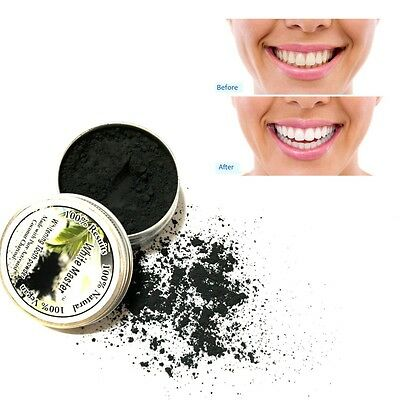 Natural Teeth Whitening Powder Activated Charcoal Bamboo Organic Toothpaste