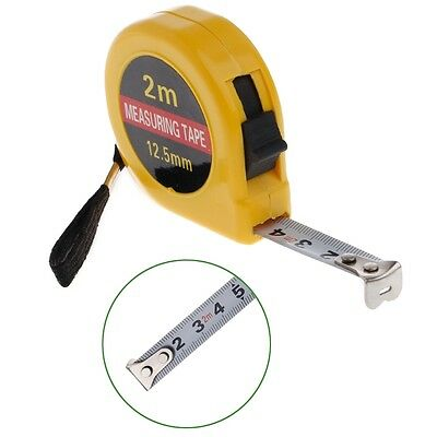Mini Pocket 2m Retractable Tape Measure Ruler Tool Builders Home DIY Garage Rule