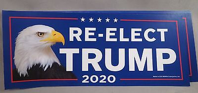 WHOLESALE LOT OF 20  RE-ELECT TRUMP 2020 FOR PRESIDENT STICKERS Eagle 45th USA