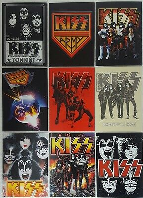 KISS IKONS Sticker / Card set of 12 presspass 2009
