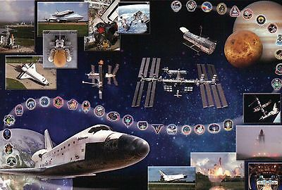 NASA Tribute of Space Shuttle Atlantis, International Space Station etc Postcard