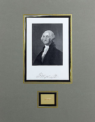 George Washington Authentic Signed & Matted .20x.80 Cut Signature BAS #A81105