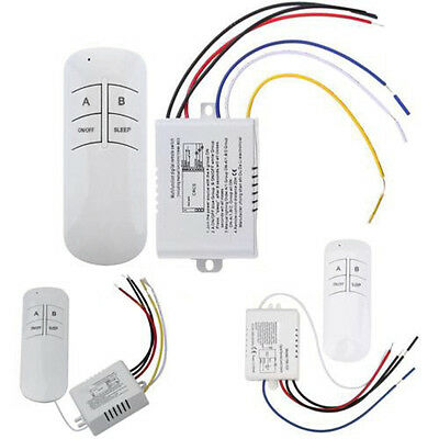 1/2/3 Ways ON/OFF 220V Wireless Digital Lamp Light RF Remote Control Switch New