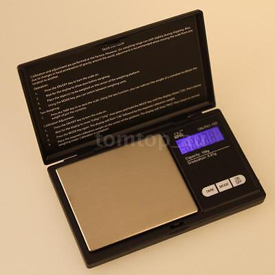 Portable 100g×0.01g Flip-open Lid Digital Weighing Scale LCD Blue Backlight O0E7