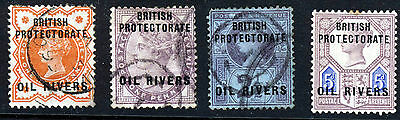 OIL RIVERS NIGERIA QV 1892-94 OVERPRINTED OIL RIVERS SG 1 to SG 5 MINT & VFU