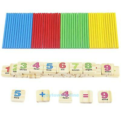 Children Kids Wooden Numbers Mathematics Counting Early Learning Educational Toy