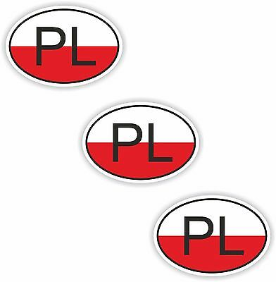 3x Oval Flag Stickers Slovenia Small Country Code Laptop Smartphone Case
