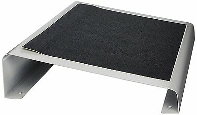 Buddy Products Standard Width Foot Rest, Steel, 11 x 3.75 x 16 Inches, Platinum