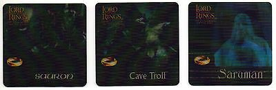 2002 Lord of the Rings Rare Action Flipz Artbox U.K. Retail Insert Set AF1-AF3