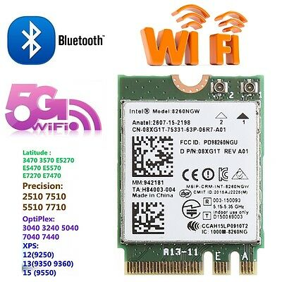 867M Dual Band Bluetooth V4.2 M.2 Wireless Card For Intel 8260 AC DELL 8260NGW