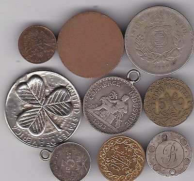 9 Unusual Error Or Contemporary Foreign Silver And Base Metal Coins