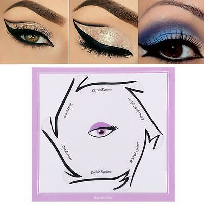 6 In 1 Fashion Makeup Kits Different Type Eye line Eyeliner Stencil Cards New