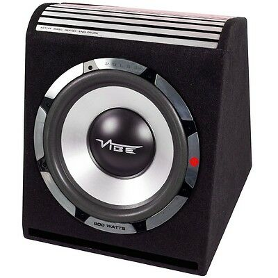 "Vibe Pulse 12"" 30cm Active Sub Subwoofer Car Audio Bass 900W Amplified Ported"