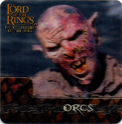 2002 Lord of the Rings ArtBox Action Flipz Lenticular #18 Orcs