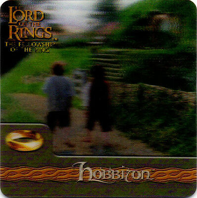 2002 Lord of the Rings ArtBox Action Flipz Lenticular #21 Hobbiton