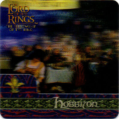 2002 Lord of the Rings ArtBox Action Flipz Lenticular #23 Hobbiton