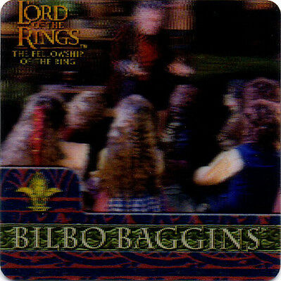 2002 Lord of the Rings ArtBox Action Flipz Lenticular #24 Bilbo Baggins