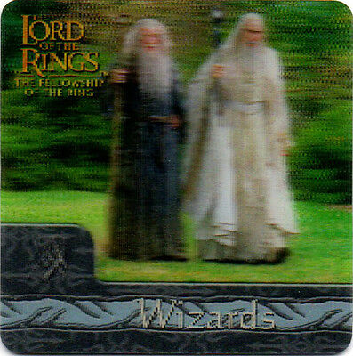 2002 Lord of the Rings ArtBox Action Flipz Lenticular #28 Wizards Gandalf