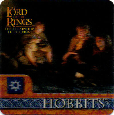 2002 Lord of the Rings ArtBox Action Flipz Lenticular #34 Hobbits