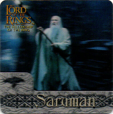 2002 Lord of the Rings ArtBox Action Flipz Lenticular #17 Saruman