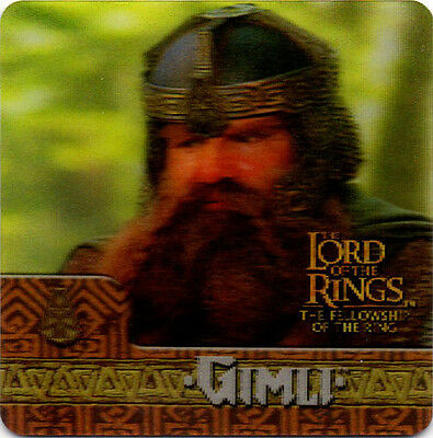 2002 Lord of the Rings ArtBox Action Flipz Lenticular #56 Gimli