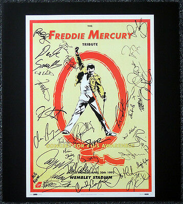 Queen Poster Page 1992 Freddie Mercury Tribute Repro Signed Concert Poster F14