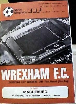 WREXHAM v MAGDEBURG OF EAST GERMANY 79-80 EUROPEAN CUP WINNERS CUP MATCH