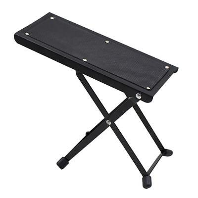 Folding Guitar Footrest Plate w/ 6-level Height Adjustable Foot Stool