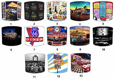 Lampshades Ideal To Match American Diner Dive Through Wall Decals & Stickers.