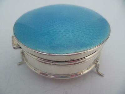 Stunning Art Deco Silver & Guilloche Enamel Jewellery/trinket Box H/marked 1927