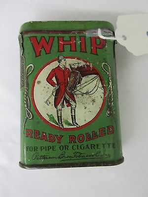 Vintage Advertising Tobacco Tin Whip Short Vertical Pocket Tin   486-Y