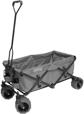 Folding Utility Cart Wagon Trailer Collapsible Garden Outdoor Shopping Beach NEW