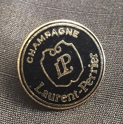 Champagne Laurent Perrier Champagne Sport Golf Pin Black Enamel & Gold Tone