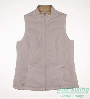 New Womens Sport Haley Golf Reversible Vest Medium M White MSRP $125
