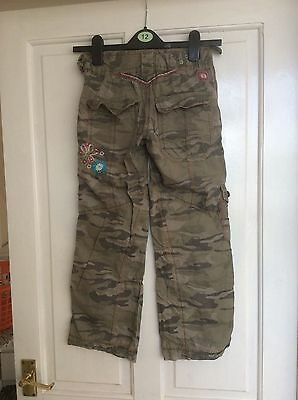 Girls Camaflage Trousers From Next 8 Years