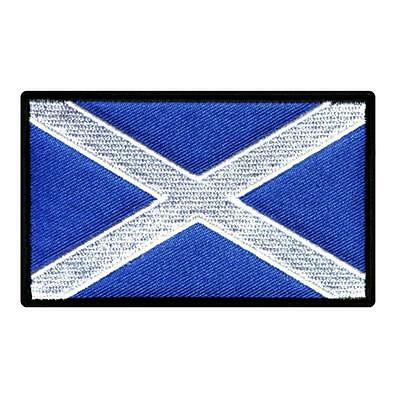 "SCOTLAND FLAG IRON ON PATCH 3"" Embroidered Applique Scottish St Andrews Cross"
