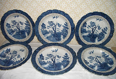 VINTAGE BOOTHS REAL OLD WILLOW BONE CHINA DISHES for SOUP / PASTA/ SALADS etc